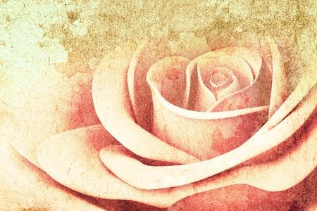 3D Rose couleurs sur la texture de fond