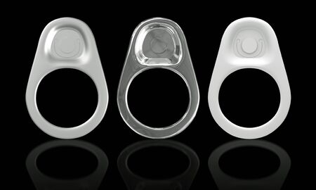 ring pull: 3D Ring Pull Of Cans