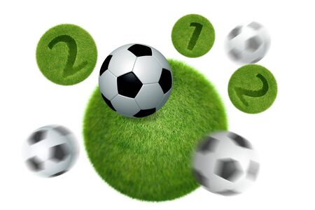 soccer and football 2012 model 3D Isolated, on white background. photo