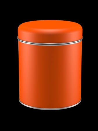 3D Tin Can design product package  photo