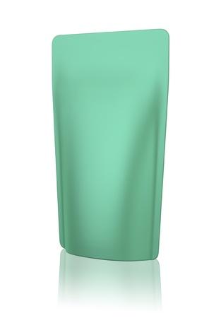 liquid reflect: 3D bag package green