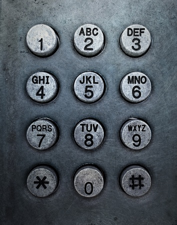Grunge metal button phone background texture photo