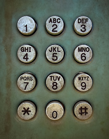 Grunge metal button phone background texture