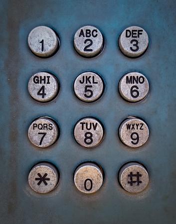 Grunge metal button phone background texture photo