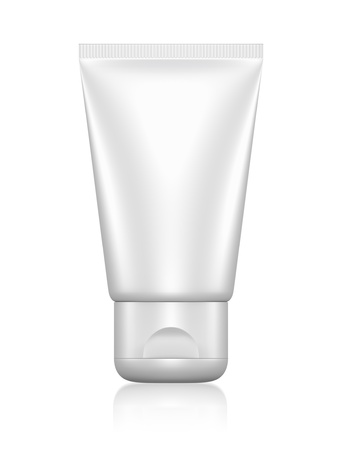 cleanser: 3D package tube blank on a white background  isolated