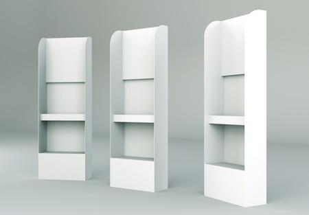 3D shelves display Gondola wire wing panel  Standard-Bild