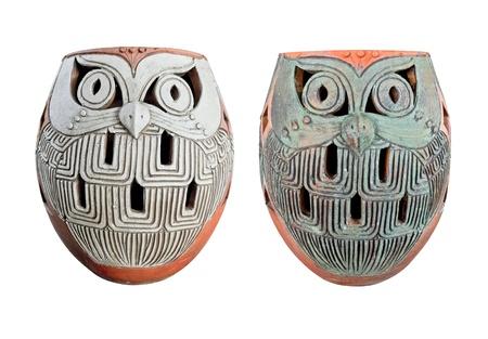 pottery owl set photo