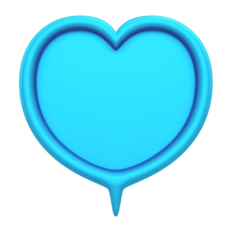 talk show: 3D Heart bubbles speech, design element  isolated Stock Photo