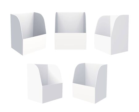 3D Shelf Box Display on a white background  Isolated photo