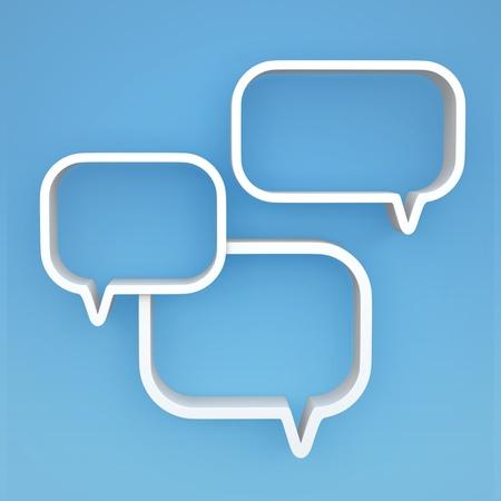 chat box: 3D shelves design form   bubbles speech   on background