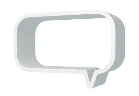 3D Square bubbles speech, design element  isolated  photo