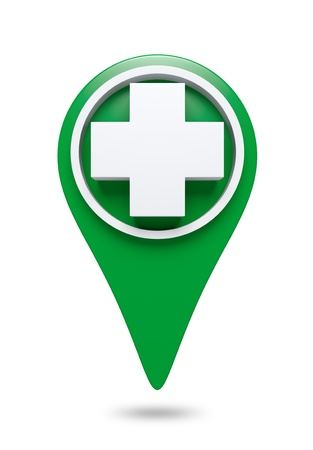 3D White cross Icon website design element  isolated
