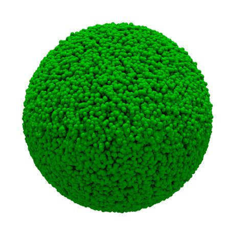 3D grass sphere ball on white background  Isolated  photo