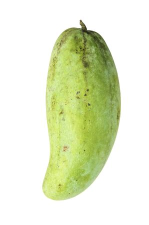 Green mango on a white background  isolated photo