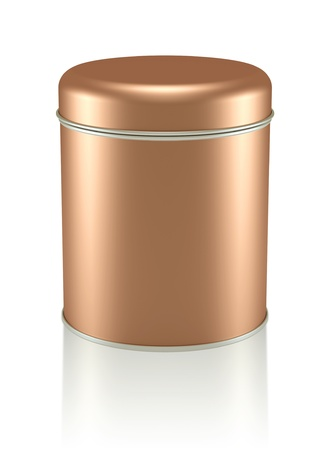 3D copper Tin Can design product package photo