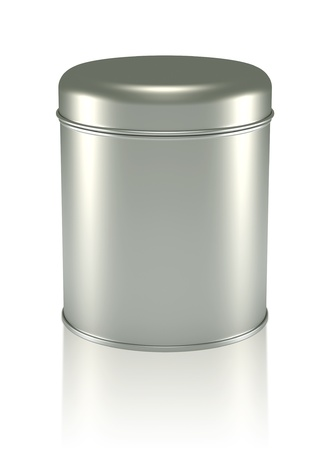 3D silver Tin Can design product package