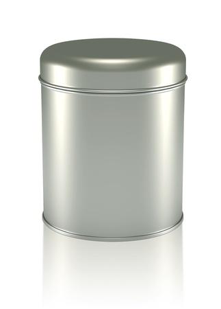 3D zilver Tin Can ontwerpen productpakket