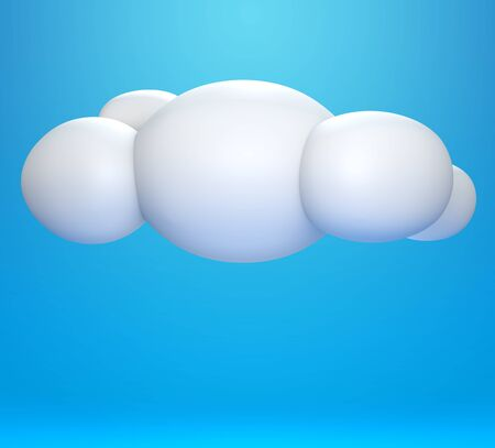 3D cloud on blue sky photo