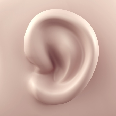 3D ear close up Stock Photo