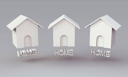 3D Home icon for website Stock Photo - 15122794