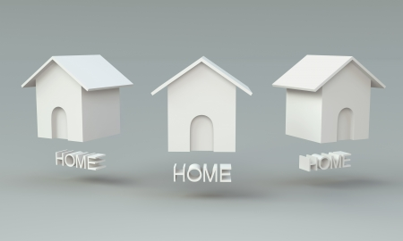 3D Home icon for website Stock Photo - 15122787