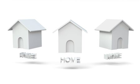 3D Home icon for website Stock Photo - 15122730