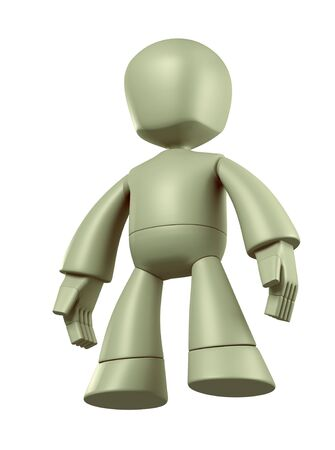 3D Robot character design  isolated photo