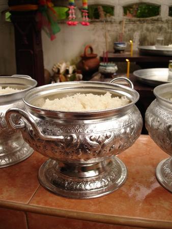 dishtowel: Bowl of rice thailand style Culture  Stock Photo