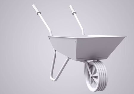3D Wheelbarrow illustration illustration
