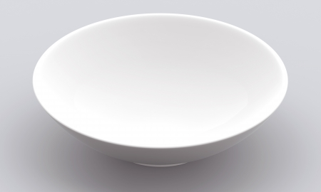 White Sphere Bowl top view on background  Isolated 3d model  photo