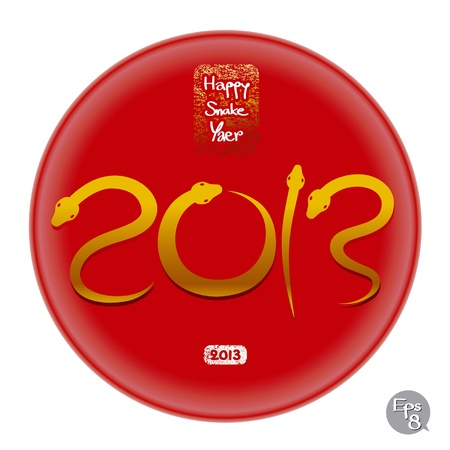 happy snake year 2013 Vector