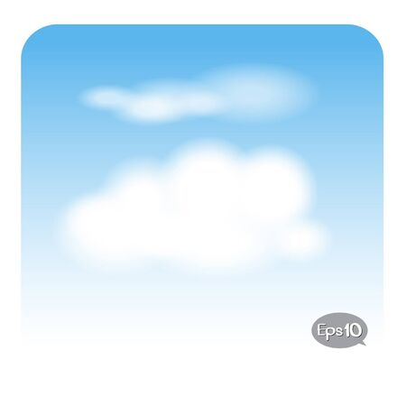 cloud on blue sky Vector