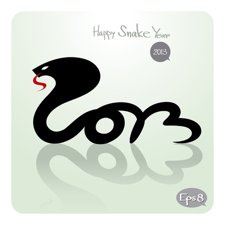 happy snake year 2013 Stock Vector - 15528433