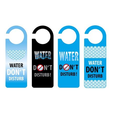 water do not disturb door knob or hanger sign, thailand  Stock Vector - 15528492
