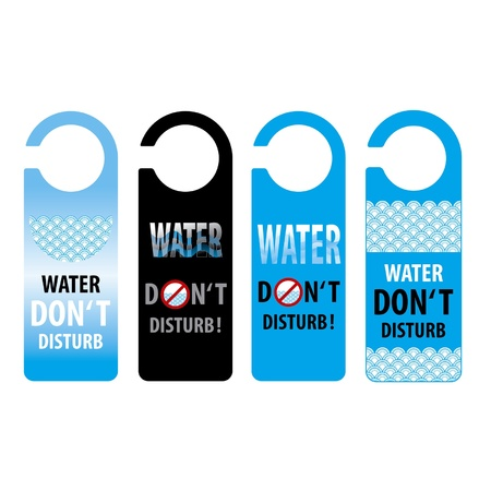 water do not disturb door knob or hanger sign, thailand Stock Vector - 15528492