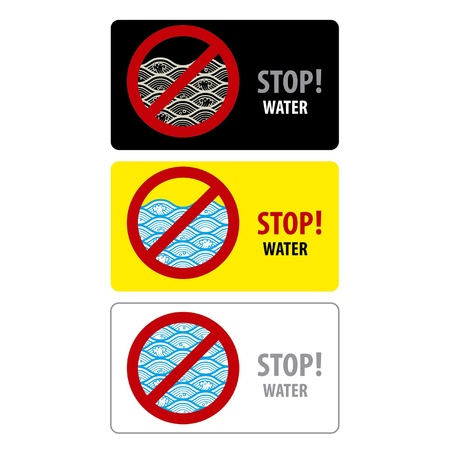 Water stop sign isolated on a white background Stock Vector - 15528519
