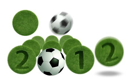soccer and football 2012 model 3D Isolated, on white background   photo