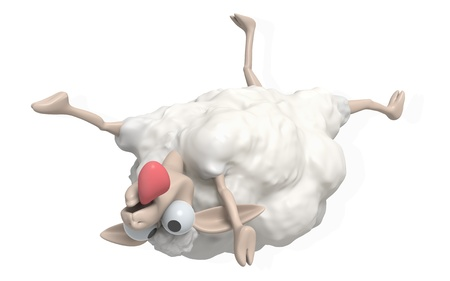 lambkin: 3D Cheep illustration on a white background, isolated