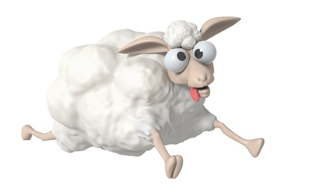 3D Cheep illustration on a white background, isolated  Standard-Bild