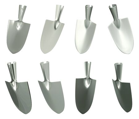 Head Chrome tool Trowel on a white background  Isolated 3d model  photo
