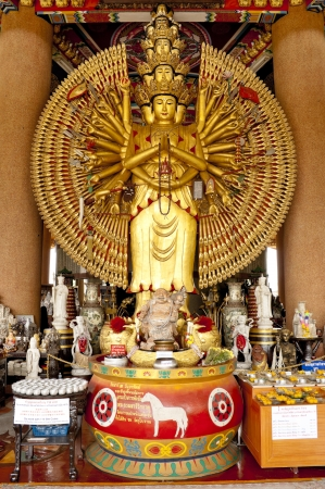 Guan Yin with ten thousand hands in Thailand