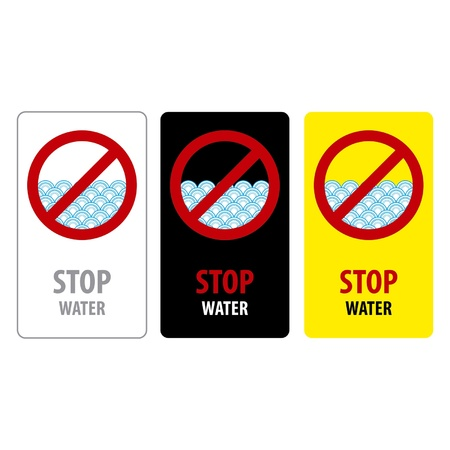 Water stop sign isolated on a white background  Stock Vector - 15642839