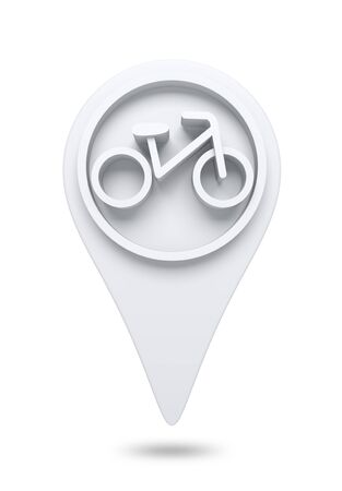 recondition: 3D bike and bicycle Icon website design element  isolated
