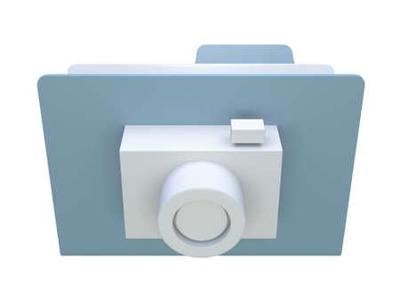 3D image folder icon Stock Photo - 16060754
