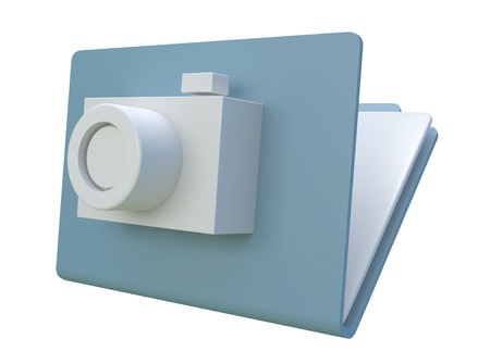 3D image folder icon Stock Photo - 16060759