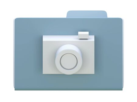 3D image folder icon  Stock Photo - 16060763