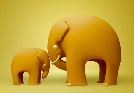 3D elephant happy fathers day  photo
