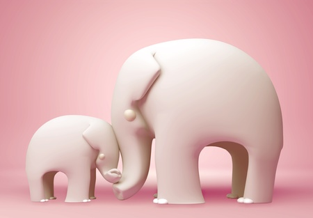 mothers day: 3D elephant happy mothers day
