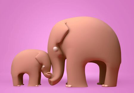 3D elephant happy mothers day photo