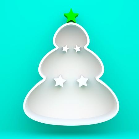 christmas tree illustration: 3D christmas tree shelves and shelf design